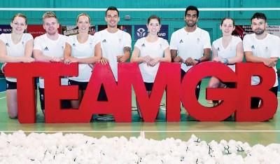 今年代表英国出征里约奥运会的羽球精英们。