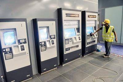 捷运站的车票售卖机。