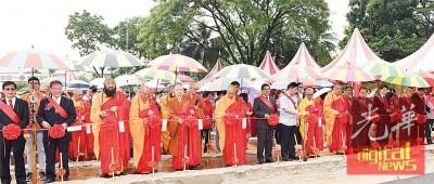 极乐寺慈善医院动土仪式。