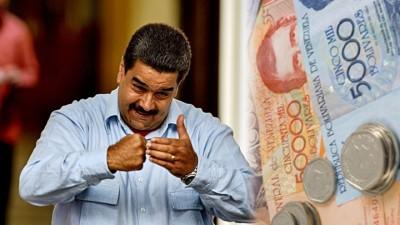 委内瑞拉总统马杜罗猝然宣布作废100玻利瓦尔之钞票。