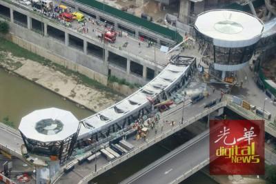 根据马来西亚职业安全与健康机构(DOSH)的调查,天桥长度的结构,抑或其它原因,是造成天桥坍塌的原因。