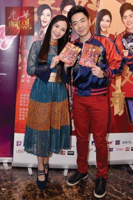推出贺岁专辑《美好新年》的钟盛忠(右)和钟晓玉邀来两位实力超强的歌坛前辈助阵。