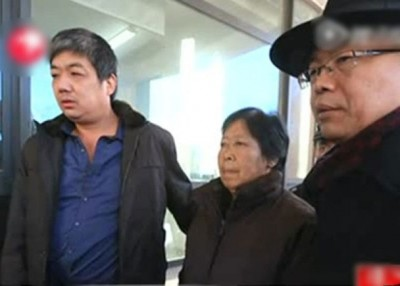 2014年,山东高院复查案件,聂树斌老人前往法庭。