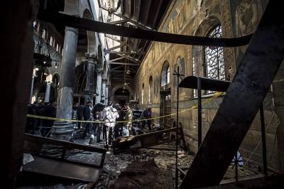 主教堂损毁严重。(法新社照片)