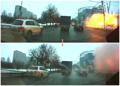 地铁站发生巨大爆炸。