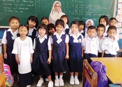 吉北瓜拉尼浪高华小学17名新生中只有2名华裔。
