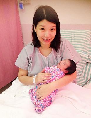 梁佩仪的元旦宝宝重达3.3公斤。