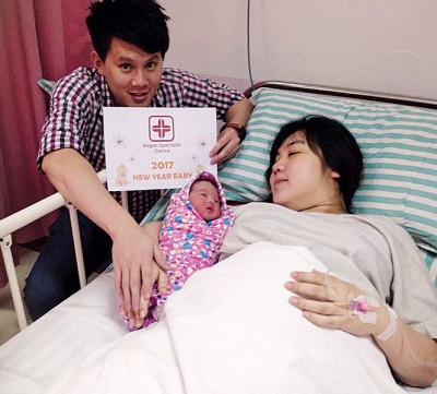 孙意祥和林颖盈在元旦日迎来第二名孩子的诞生。