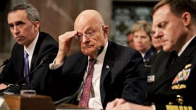 克拉珀(被)当几乎名美国情报主管到参议院作证。(法新社照片)