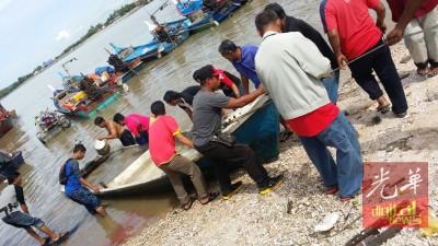失踪渔民的船只已寻获,不过渔民生死未卜。