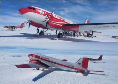 机场四周都是雪地,降落并不容易。此前并未有其他国家的飞机在此降落。