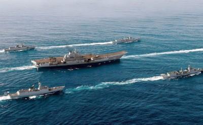 """中国国台办重申""""辽宁号""""到西太平洋进行训练。"""