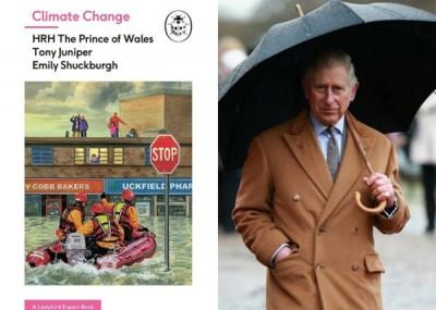 查理斯王子出书,啊环保出同样分力。该书《天变》因为阿克菲尔德水灾(左)的实景作为封面。