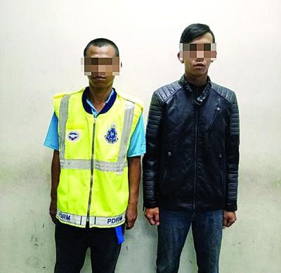 2号称男子因假冒警察被捕。