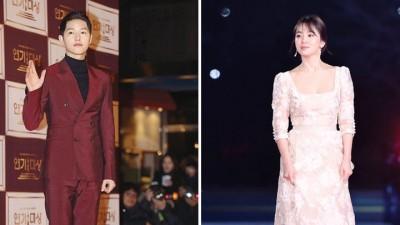 宋仲基以及宋慧乔一道擒下KBS夏大奖。