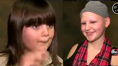 为让拉里(右)出相同将优质头发,布恩(左)过去少年将好之发留长。