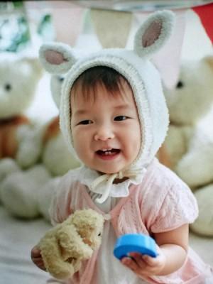 新韩混血宝宝张允瑞患病前活泼好动,健康乖巧。