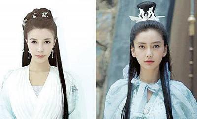 网红周文羽(左)传曾被剧组相中当Baby(右)替身。