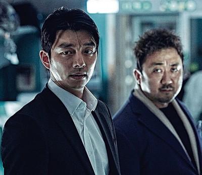 《尸杀列车》的孔刘(左)和马东锡(右)分别角逐最佳男主角和男配角。