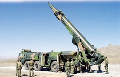 华日前开展同样次东风41导弹试射,连给推断可能是劈导式多弹头试验。