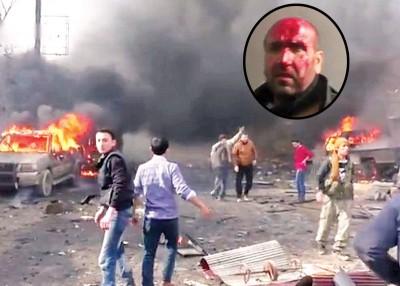 爆炸造成多部车辆及建筑物起火,场面混乱。小图有市民血流永利手机在线登录手机版官网。
