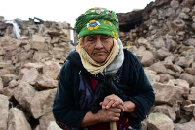 农妇的下给震摧毁,展示一脸无奈。