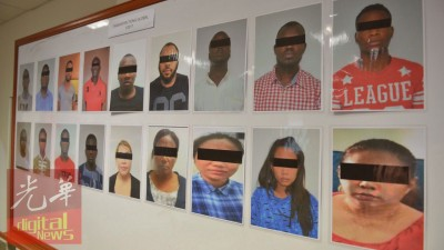 落网的13名非洲籍男子以学生的身份入境我国。