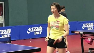 中国女乒新队长丁宁。