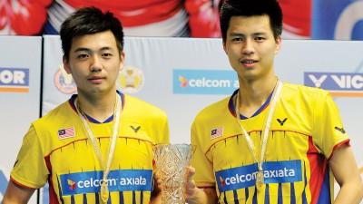 陈蔚强/王耀新赢得全国男双冠军和3万令吉奖金。