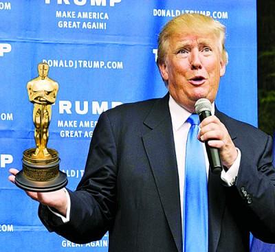 """于奥斯卡颁奖仪式上吃狂酸的特朗普,到底对引发全球注目的""""通告错奖""""乌龙作出答复。"""