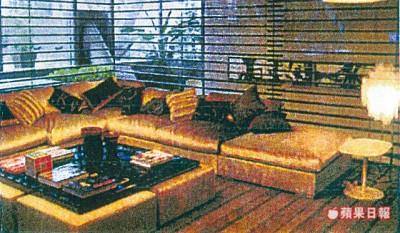 建筑师何周礼帮曾荫权的豪宅装修,图为内部装修的电脑示意图。
