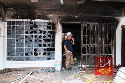 事发翌日,777钱柜官网科学鉴证组重返现场调查火患肇因。
