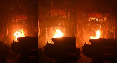 """(左)首季火焰为""""中""""。(中)次季火焰为""""中""""。(右) 尾季火焰为""""中""""。"""