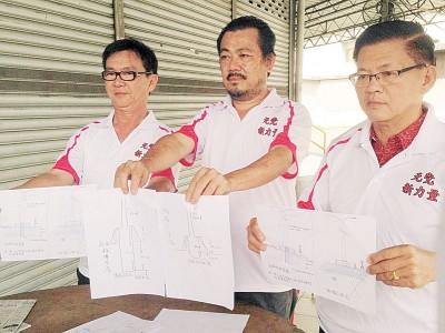 无党籍新力量团队或以交通使用者的身份投报反贪会,右起是李天凤、陈恩来及陈礼福。