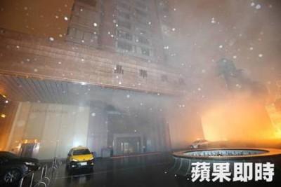 晶华酒店凌晨地下街发生火警。