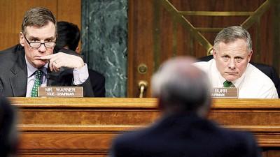 沃纳(左)和布尔(右)发声明指没证据显示特朗普遭欧巴马政府窃听。