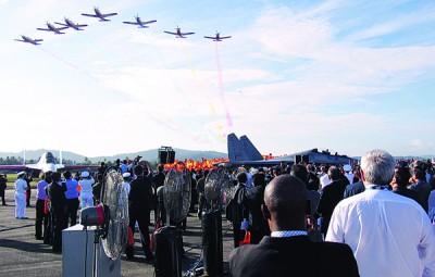 2017年浮罗到怡海空展开上,战机以轰炸方式的演出吸引人。