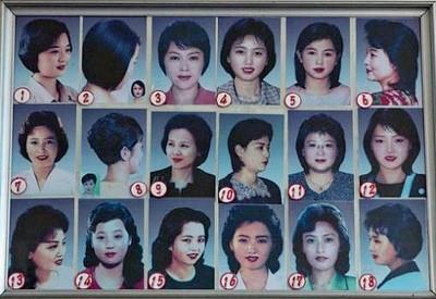 无须为三千烦恼丝忧愁,朝鲜政府统一人民发型,女性的发型多达18种类型。