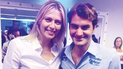 瑞士天王费德勒(左)与俄罗斯美女莎拉波娃(右)魅力无穷,也是当今网球比赛的票房保证。