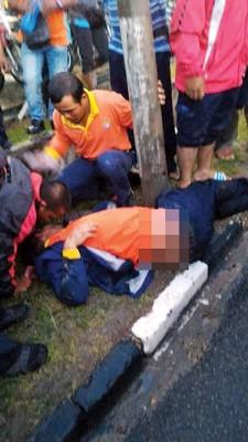 死者伤及头部,送院途中宣告不治。