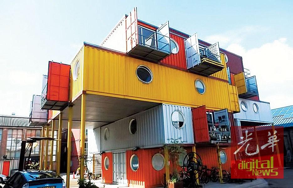 """五条路艺术专区以""""集装箱""""为概念。"""