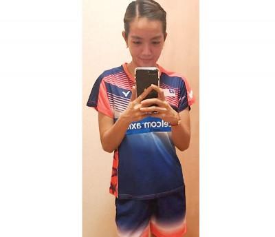 赖沛君当脸书专页透露,它仅爱这次的赛服。
