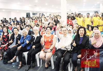 科学与女性工作营开幕,右二起王美玲、邝云龙、叶舒惠及章瑛。