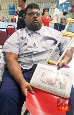 在完成胃绕道手术后,峇拉吉从原本318公斤降至目前160公斤。