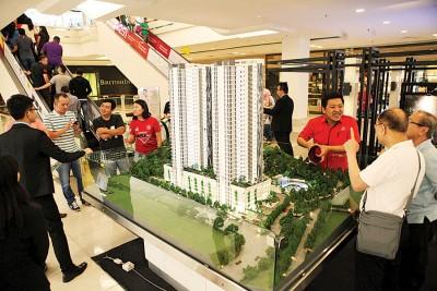 马星集团展位获得众多购屋者到来参观及洽询。