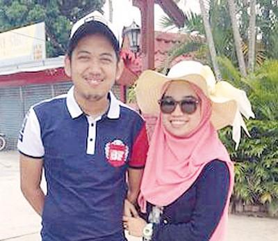 死者莫哈末梵迪与妻子诺拉丝京两周前一起到浮罗交怡游玩时的合照,至今只能成追忆。