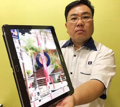 陈诠峰质问,曹观友服务中心前的巨大火箭模型阻碍居民出入,为何槟岛市政厅不采取行动?