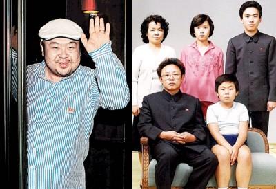 虽然金正男(坐者右)的身份一直不被承认,但却拥有与父亲金正日(坐者左)一同照家庭照的机会,是金正恩所没有的。此图为1981年8月,在平壤,金正男与父亲金正日、姨妈成蕙琅(后排左1)、表姐、表哥合影。