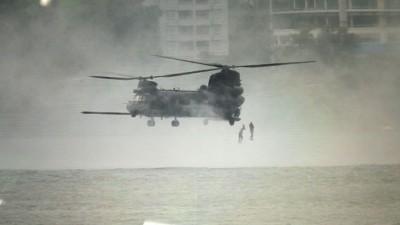 皇家警察69突击部队与美军在槟城水警总部展开联合演习,引来民间揣测。