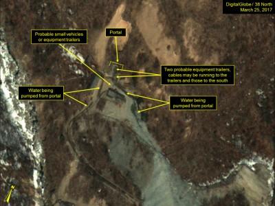 人造卫星影像显示朝鲜可能准备作地下核子试爆。
